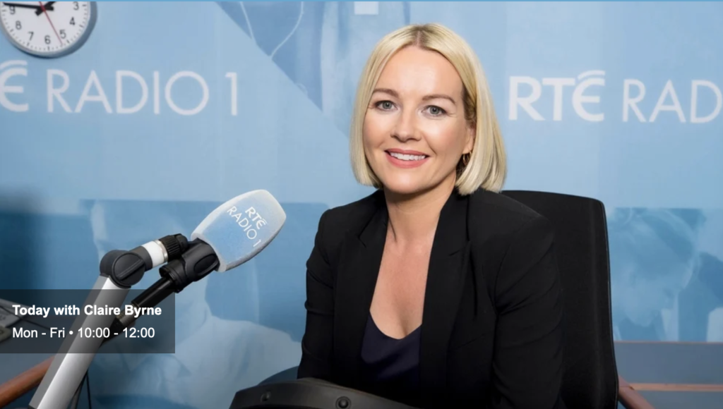 """Susan McKay on RTE 1 """"Today"""" with Claire Byrne"""
